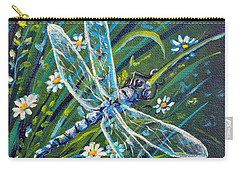 Dragonfly And Daisies Carry-all Pouch