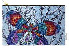 Dragonfly And Pussywillows Carry-all Pouch