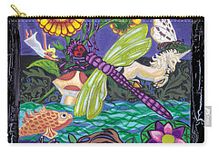 Dragonfly And Unicorn Carry-all Pouch