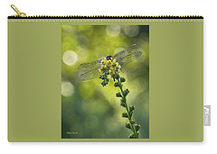 Dragonfly Flower Carry-all Pouch