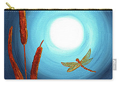 Dragonfly In Teal Moonlight Carry-all Pouch