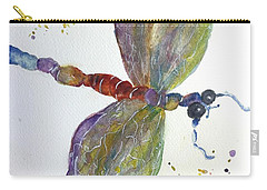 Carry-all Pouch featuring the painting Dragonfly by Lucia Grilletto