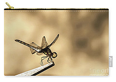 Dragonfly Resting On The Clothesline Carry-all Pouch