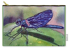 Dragonfly With Shadow Carry-all Pouch