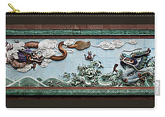 Dragons Ceramic Art At Foshan Ancestor Temple In China Carry-all Pouch