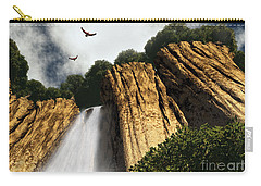 Carry-all Pouch featuring the digital art Dragons Den Canyon by Richard Rizzo