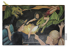 Dragons From The Train Carry-all Pouch