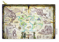 Dragons Of The World Carry-all Pouch by The Dragon Chronicles - Garry Wa