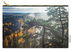 Dramatic Autumn Forest With Trees On Foreground Carry-all Pouch