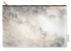Dramatic Dusty Great Migration In Kenya Carry-all Pouch