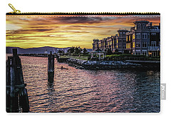 Dramatic Hudson River Sunset Carry-all Pouch by Jeffrey Friedkin