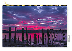 Dramatic Maine Sunrise Carry-all Pouch by John Vose