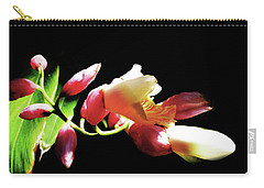 Dramatic Oriental Orchid Carry-all Pouch by Tina M Wenger