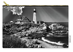 Dramatic Portland Head Lighthouse Me Carry-all Pouch