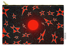 Carry-all Pouch featuring the mixed media Dramatic Radiation  by Will Borden