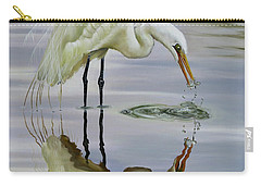 Carry-all Pouch featuring the painting Dramatic Reflections by Phyllis Beiser