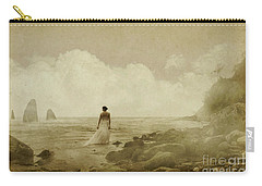 Dramatic Seascape And Woman Carry-all Pouch