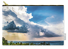 Carry-all Pouch featuring the photograph Dramatic Sunrays Over The Valley by Shelby Young