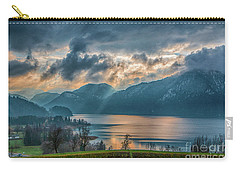 Dramatic Sunset Over Mondsee, Upper Austria Carry-all Pouch by Jivko Nakev
