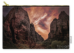 Dramatic Zion National Park Utah  Carry-all Pouch