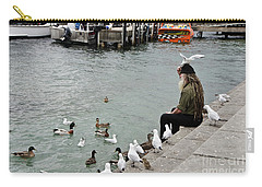 Dreadlocks Man Feeding Birds Carry-all Pouch