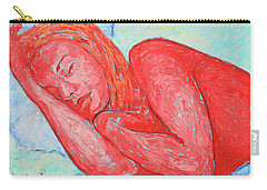 Carry-all Pouch featuring the painting Dream Big   by Xueling Zou