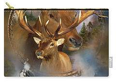 Dream Catcher - Spirit Of The Elk Carry-all Pouch by Carol Cavalaris