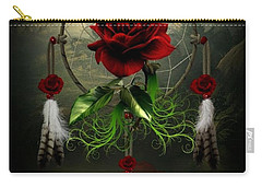 Dream Catcher Rose Carry-all Pouch