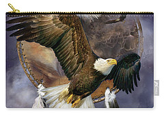 Dream Catcher - Spirit Eagle Carry-all Pouch by Carol Cavalaris