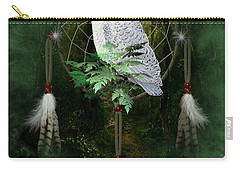 Dream Catcher White Owl Carry-all Pouch
