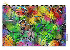 Carry-all Pouch featuring the digital art Dream Colored Leaves by Klara Acel