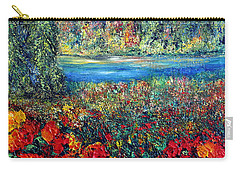 Carry-all Pouch featuring the painting Dream Day  by Teresa Wegrzyn
