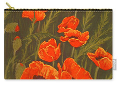 Carry-all Pouch featuring the painting Dream Of Poppies by Anastasiya Malakhova