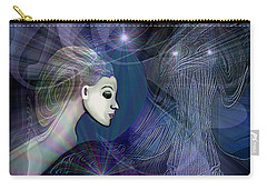 Carry-all Pouch featuring the digital art 1101 - Dream Voyage - 2017 by Irmgard Schoendorf Welch