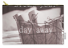 Dream Your Day Away With A Book In A Victorian Bed Carry-all Pouch by Suzanne Powers