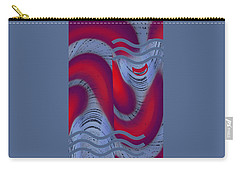 Carry-all Pouch featuring the digital art Dreaming Clown by Ben and Raisa Gertsberg