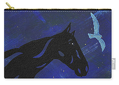 Carry-all Pouch featuring the painting Dreaming Horse by Manuel Sueess