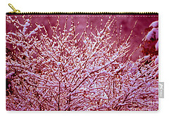 Carry-all Pouch featuring the photograph Dreaming In Red - Winter Wonderland by Susanne Van Hulst
