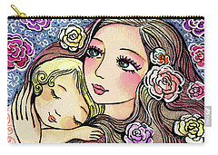Carry-all Pouch featuring the painting Dreaming In Roses by Eva Campbell