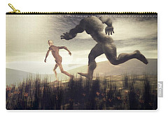 Carry-all Pouch featuring the digital art Dreaming Of A Nameless Fear by John Alexander