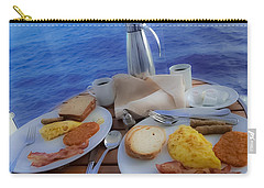 Carry-all Pouch featuring the photograph Dreaming Of Breakfast At Sea by DigiArt Diaries by Vicky B Fuller