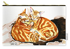 Dreaming Of Ginger - Orange Tabby Cat Painting Carry-all Pouch
