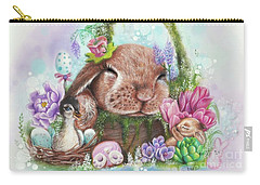 Carry-all Pouch featuring the mixed media Dreaming Of Spring - Dreaming Of Collection  by Sheena Pike