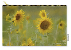 Carry-all Pouch featuring the photograph Dreaming Of Sunflowers by Benanne Stiens
