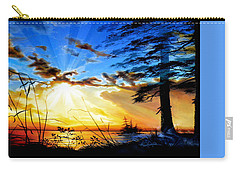 Carry-all Pouch featuring the painting Dreams Of Sunrise Through The Pines by Hanne Lore Koehler