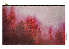 Carry-all Pouch featuring the digital art Dreamy Autumn Forest by Klara Acel