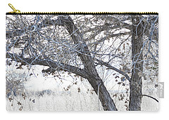 Carry-all Pouch featuring the photograph Dreamy Bosque Tree by Andrea Hazel Ihlefeld