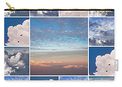 Carry-all Pouch featuring the photograph Dreamy Clouds Collage by Jenny Rainbow