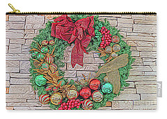 Dreamy Holiday Wreath Carry-all Pouch