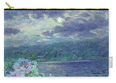 Dreamy Moon Over Peony Carry-all Pouch